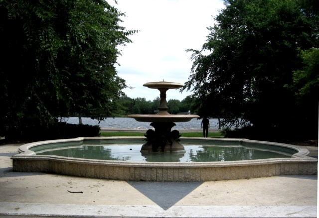 Trafalgar Square fountain, in Regina, Canada