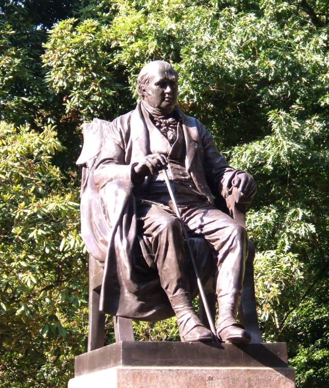 Lord Holland's statue in the woods behind the House