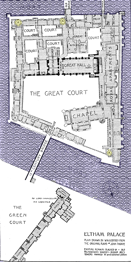 Plan of Eltham Palace