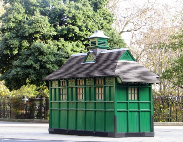 The cabmen's shelter at the north-east of the square