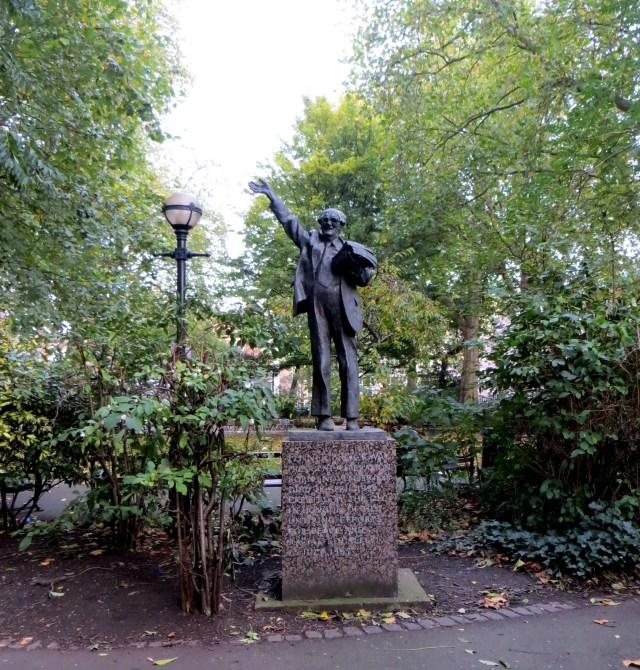 Fenner Brockway in Red Lion Square