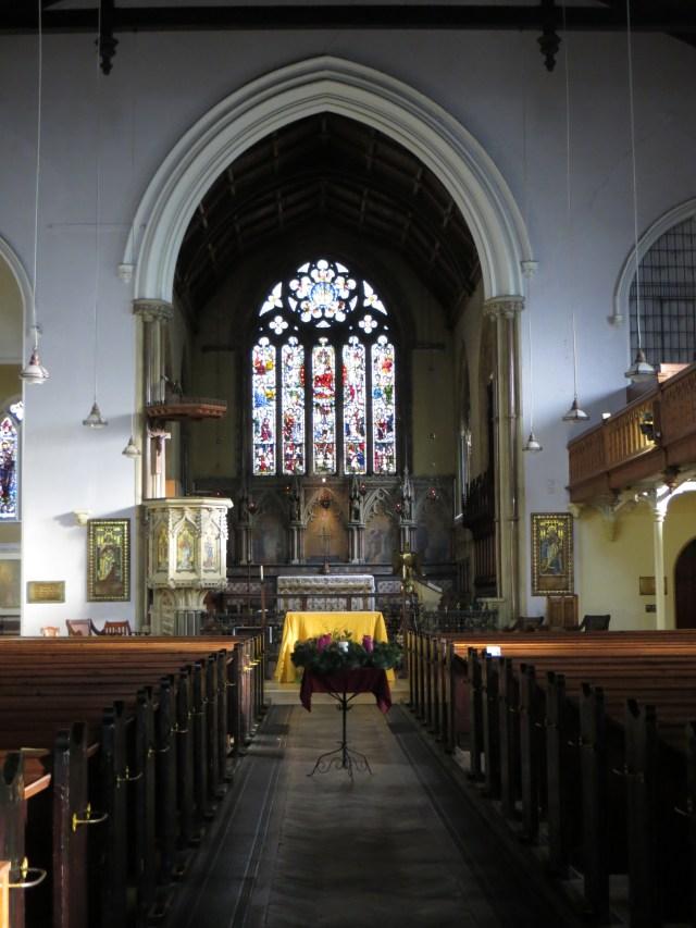 The interior of St Mark, St John's Wood