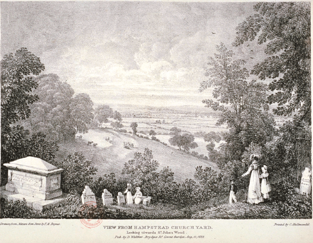 St John's Wood, 1822, from Hampstead Churchyard (Guildhall Library)