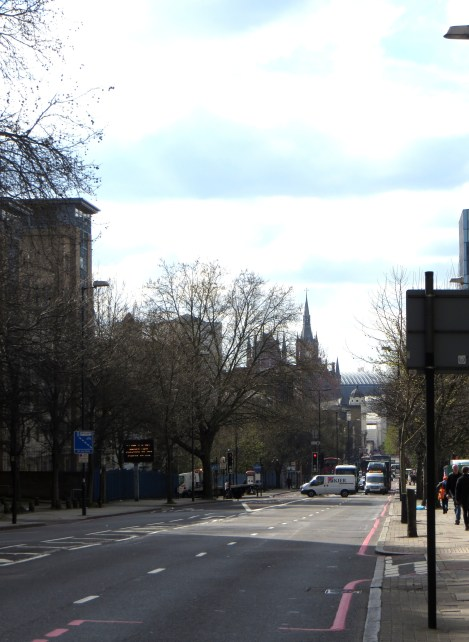 Pentonville Road, looking westwards