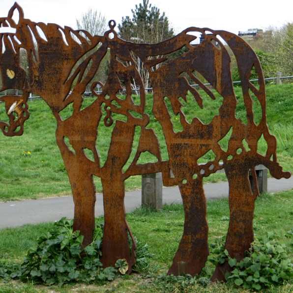Barge pony in the Mile End Park