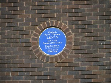 Lenin stayed in Percy Circus for a period