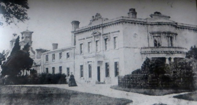 Theberton Hall, c.1850, photograph in the Church of St Peter, Theberton
