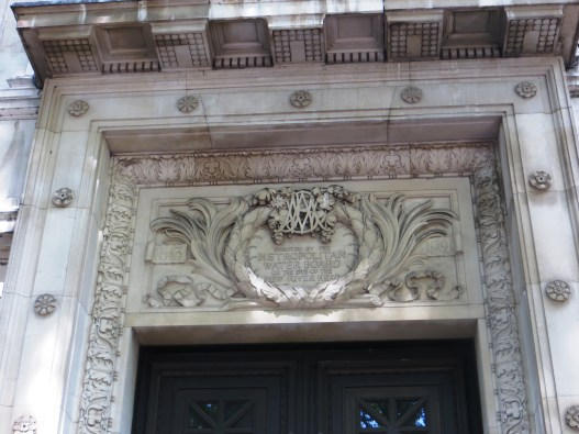 Detail on New River Head Building