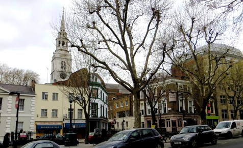 Clerkenwell Green, with the Church of St James in the background