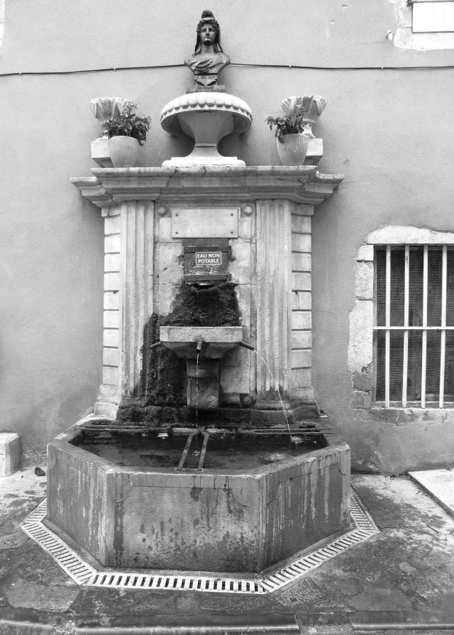 One of the 13 fountains in St Hippolyte du Fort