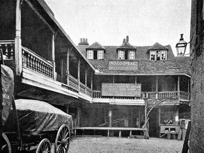 The Talbot Inn, c.1850 (www.historic-uk.com)