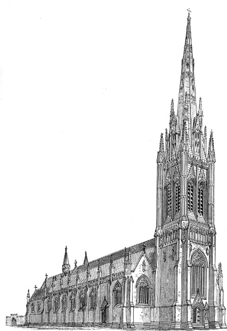 Pugin's design for St George's Cathedral
