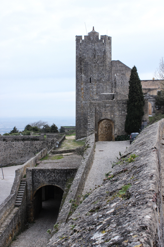 The Castle Tower and lower entry gate on the left