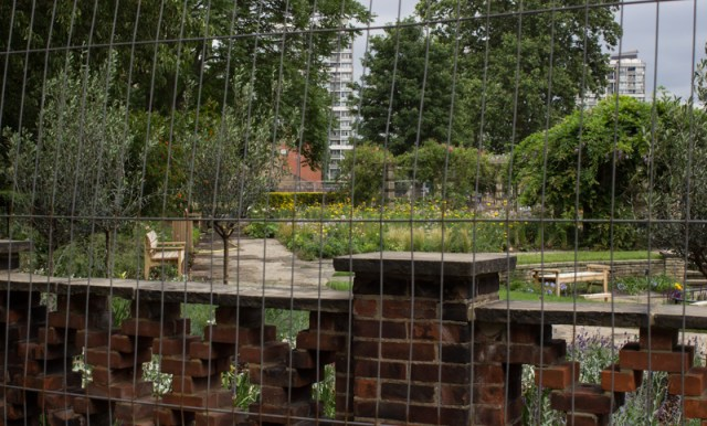 New formal flower garden in Kennington Park