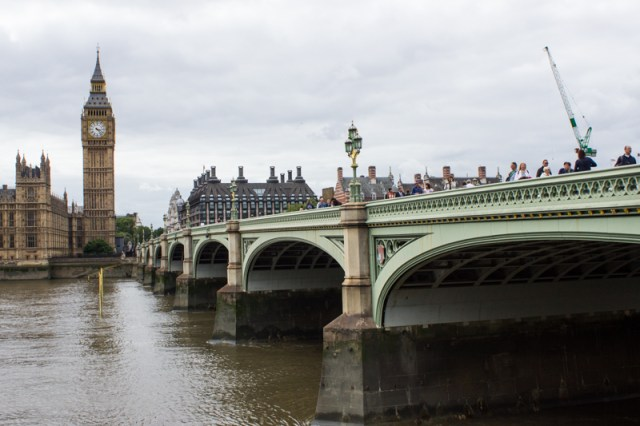 Westminster Bridge today, with Big Ben in the background