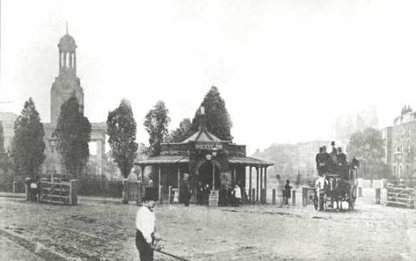 Kennington Turnpike, 1860 (www.ideal-homes.org.uk)