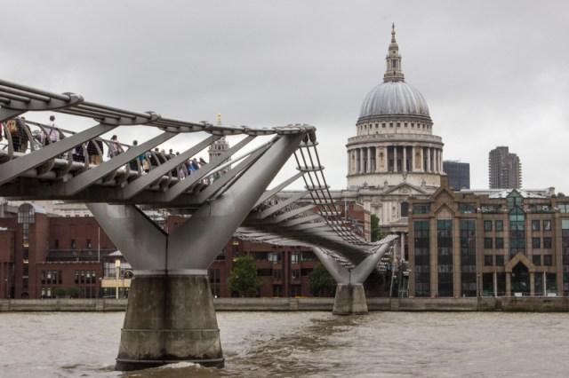 The Millennium Bridge & St Paul's Cathedral