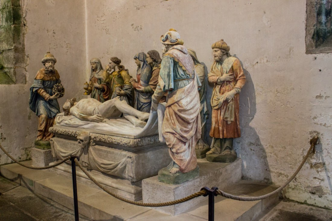 The Entombment of Christ by Antoine Chavagnac, Lampaul-Guimiliau