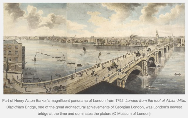 Blackfriars Bridge, 1792 (https://exhibitionologist.wordpress.com/2014/09/13/review-bridge)