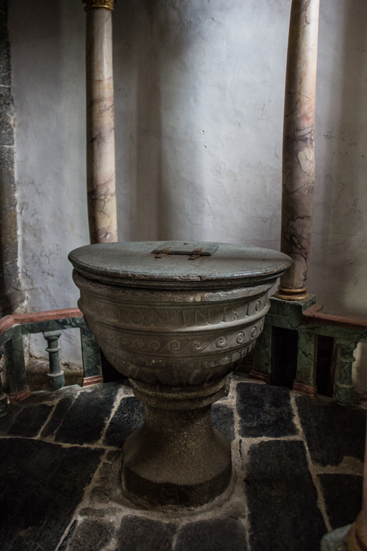 The Font in Locmelar Church