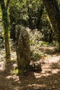 The stone circule around the Tumulus of Kercado, Carnac