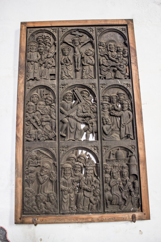 Locmelar Church, door panel-6776