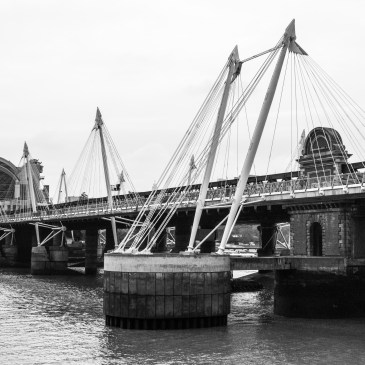 Thames Tour – Hungerford Suspension Bridge, Bradshaw's Handbook no.112
