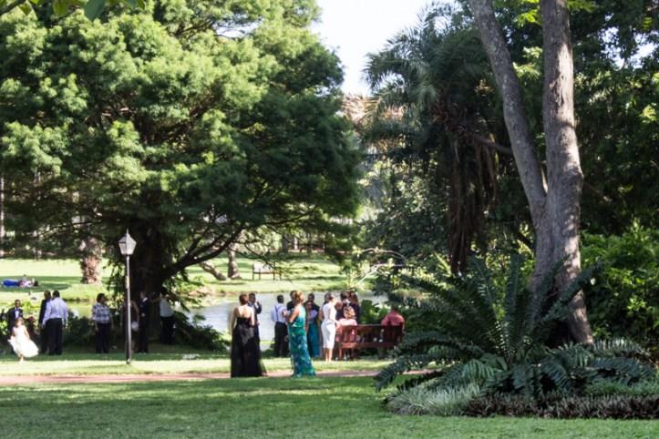 A wedding party on the lake, the Durban Botanic Gardens