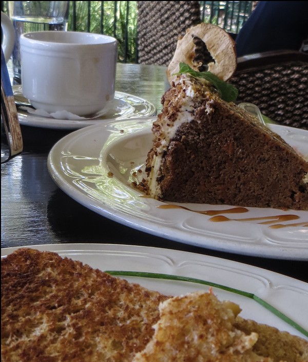 Toasted sandwich Carrot Cake at the Cafe of the Oliewenhuis Art Museum