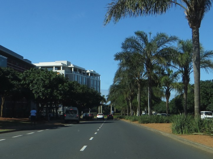 Leaving Umhlanga Rocks early in the morning