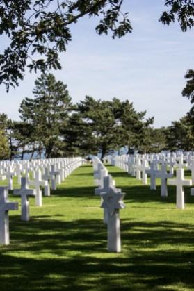 The American War Cemetery at Omaha Beach