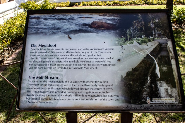 The Mill Stream in Stellenbosch