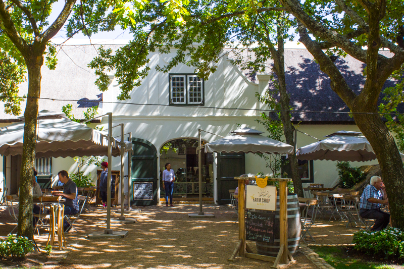 The cafe at Boschendal