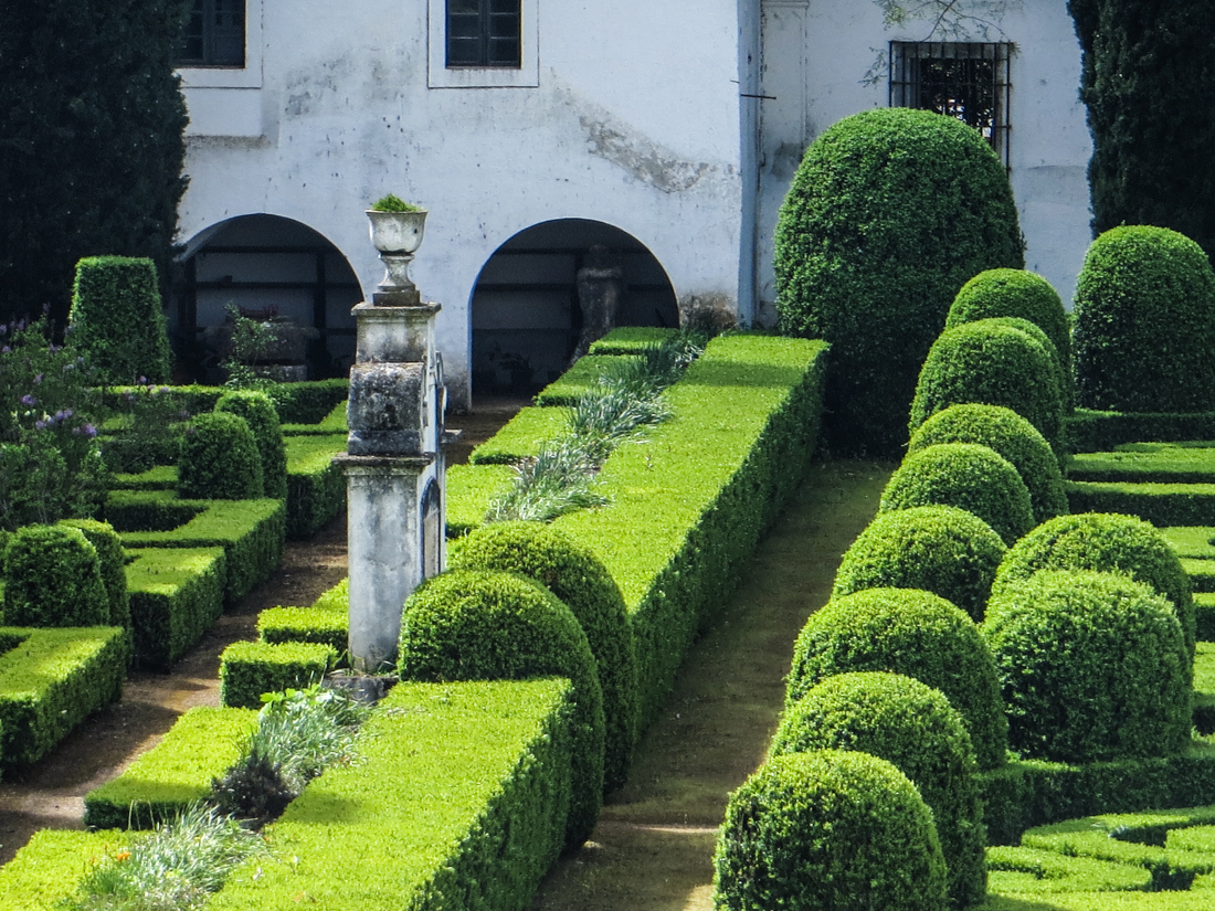 The formal gardens of the Ducal Palace, Vila Vicosa