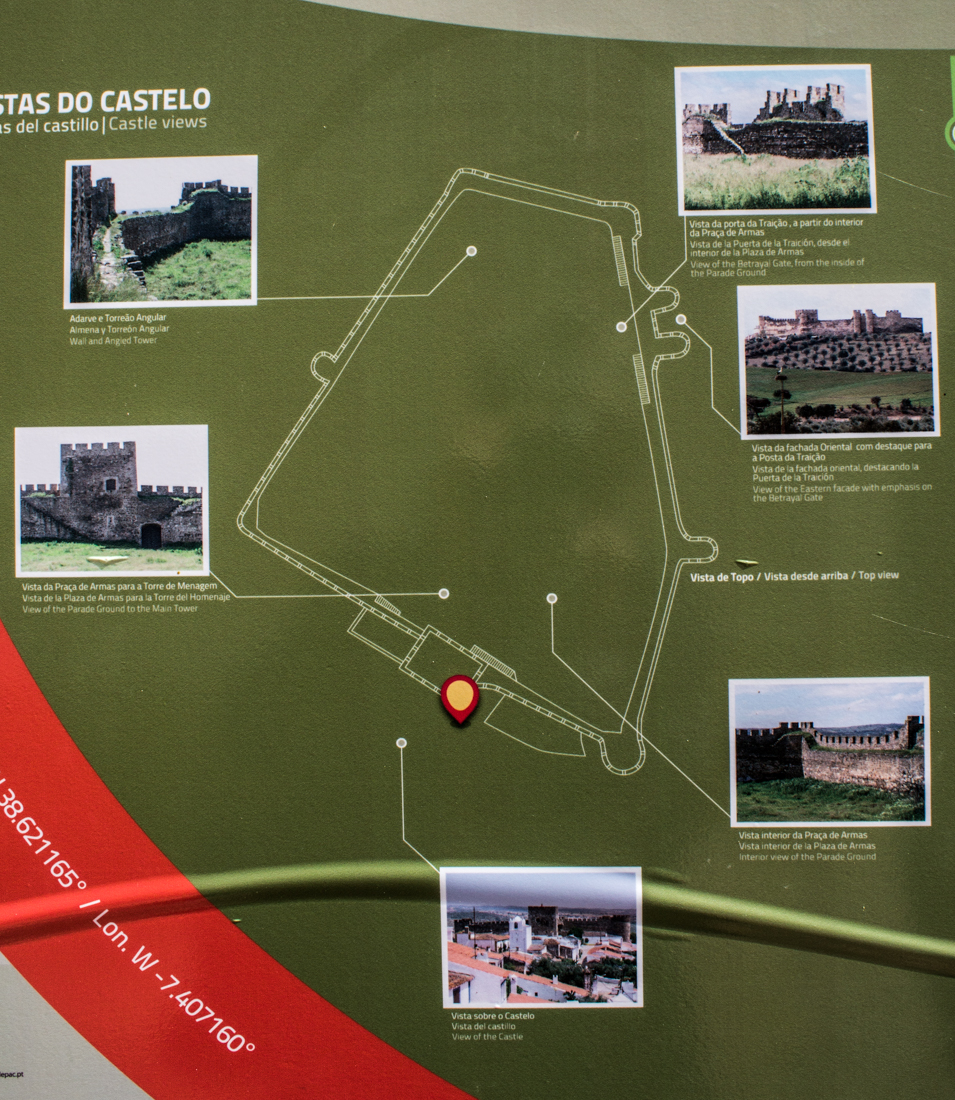 Information board, Terena Castle