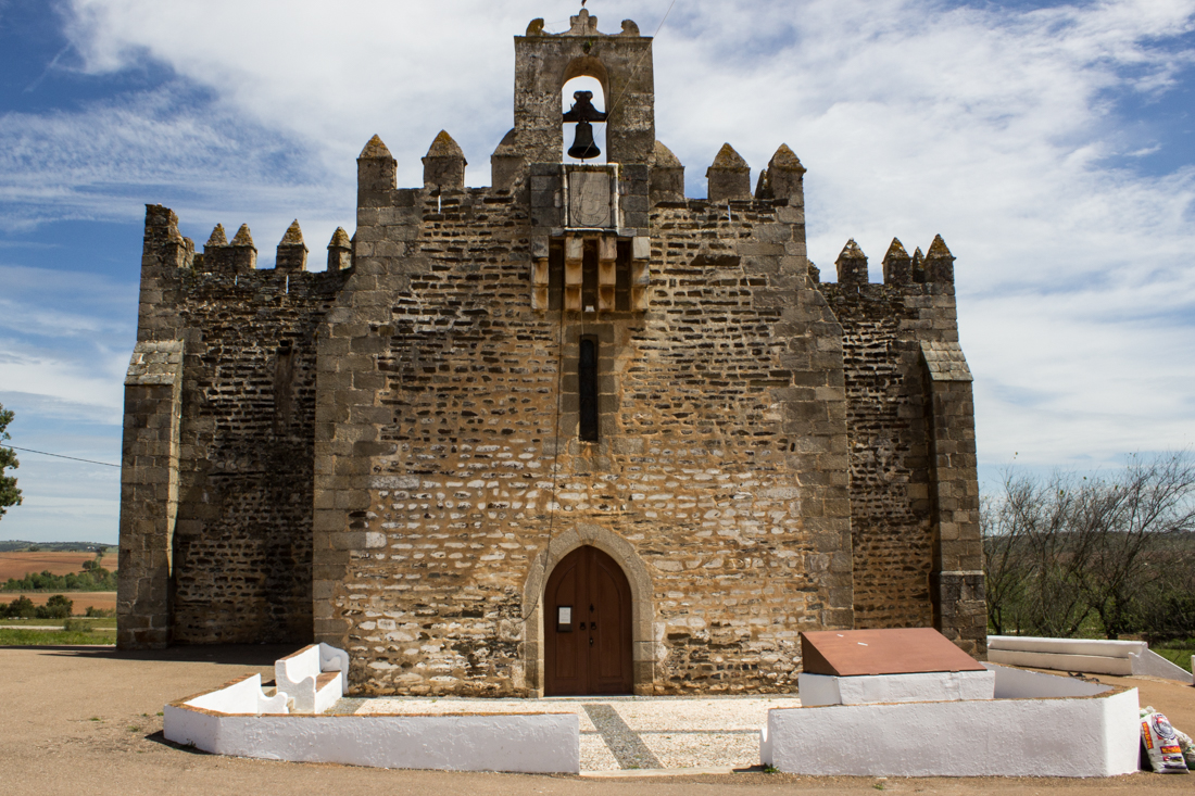 The main facade of the Chapel of Nossa Senhora de Boa Nova, Terena
