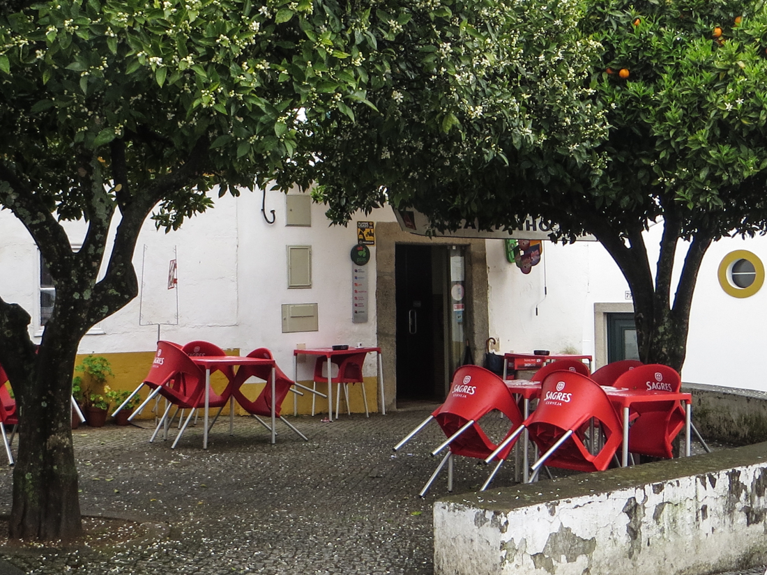 A deserted cafe in Arronches