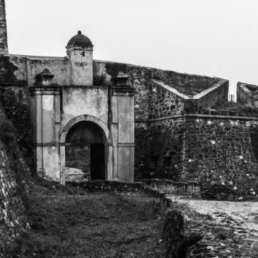 Juromenha Castle in monotone