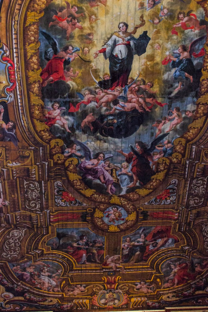 The ceiling in Santarem Cathedral