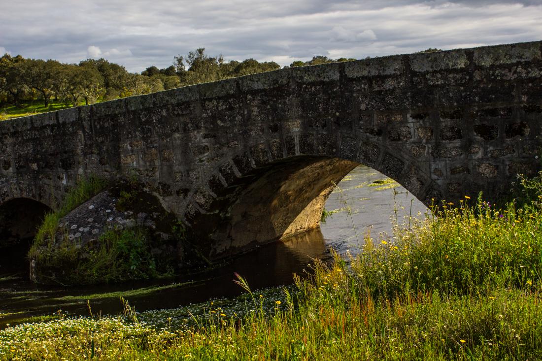The Roman Bridge between Flor da Rosa and Aldeia da Mata