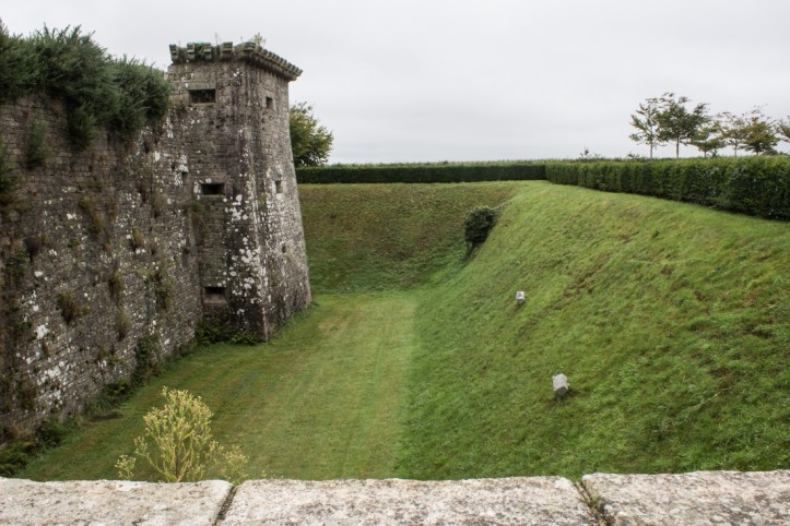 The moat and walls of The Chateau of Kerjean