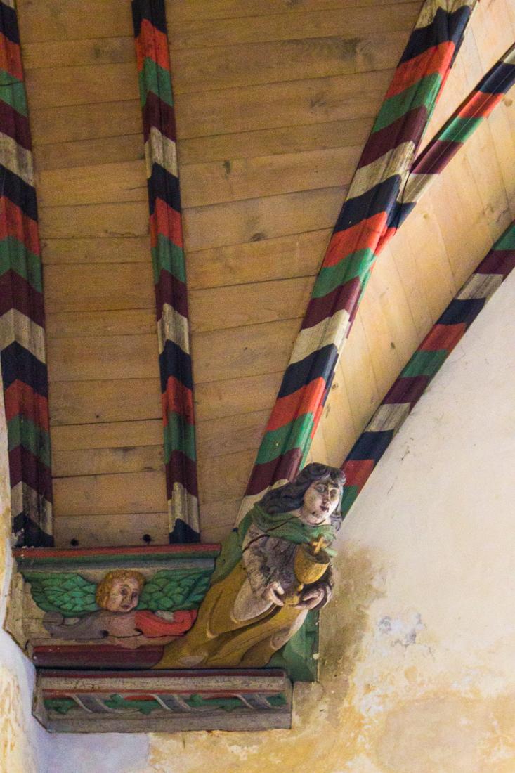 The interior of the Church of Croas Batz, Roscoff