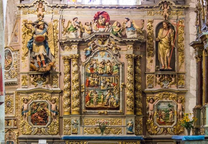 The Altar piece of St John the Baptist, Notre Dame de Lampaul-Guimiliau