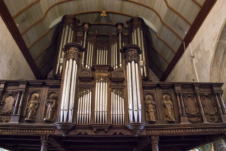 The organ loft in Notre Dame de Lampaul-Guimiliau