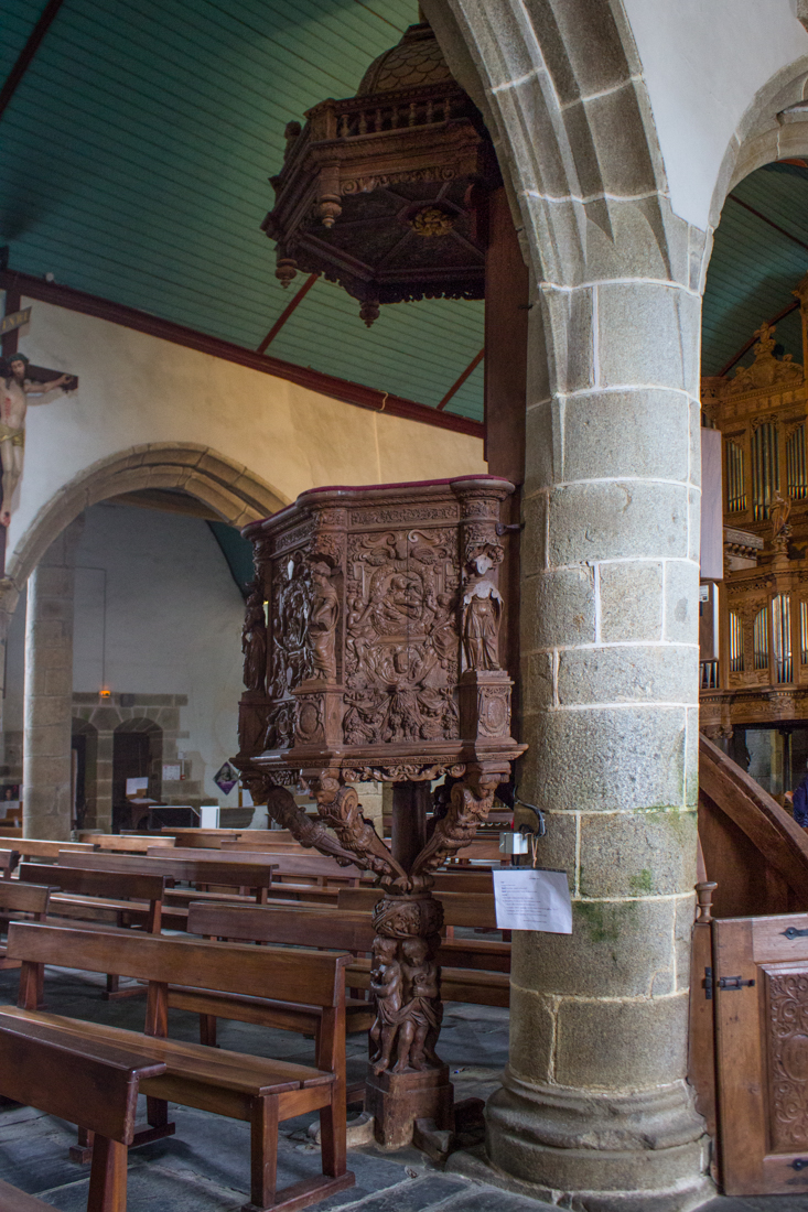The Pulpit in the Church of St Guimiliau