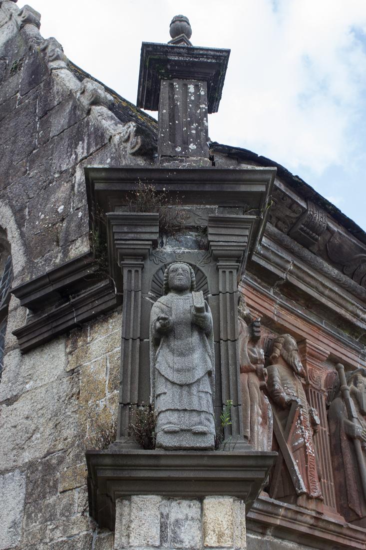 St Suliau, on the corner of the Ossuary, Sizun