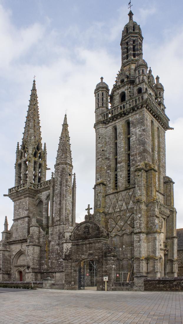 The two towers & Triumphal Arch, St Germain de Auxerre, Pleyben