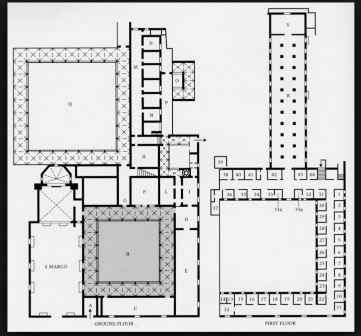 Plan of Convent of San Marco