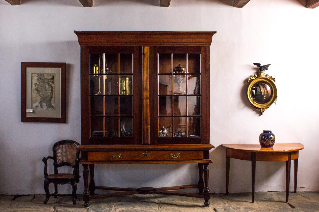 Old Cape Dutch furniture in The Old Church Museum in Tulbagh