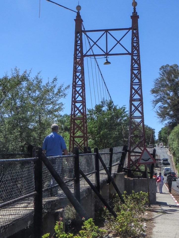 The suspension bridge over the Grobbelaars River, Oudtshoorn